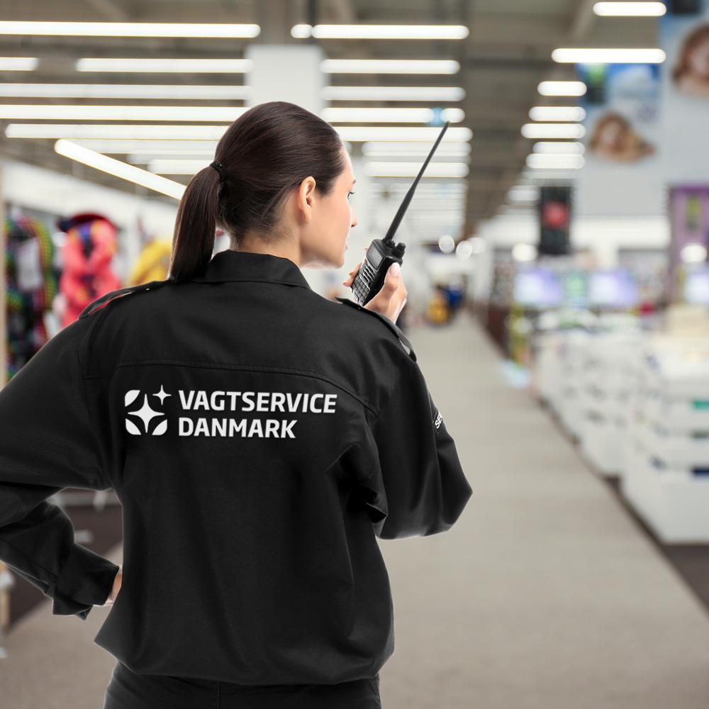 En butiksvagt mindsker tyveri