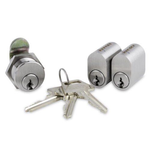 Låsesæt (2 cylindere + 1 postkasselås)